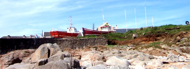 Fishing boats on Tory Island, nine miles off the coast of North-West Donegal - easily reached by ferry