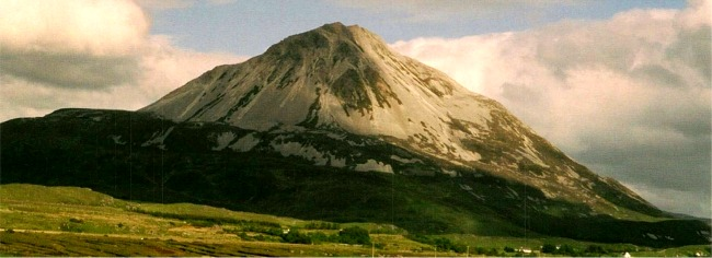 Errigal Mountain, Donegal's highest mountain and the second highest in Ulster, Ireland