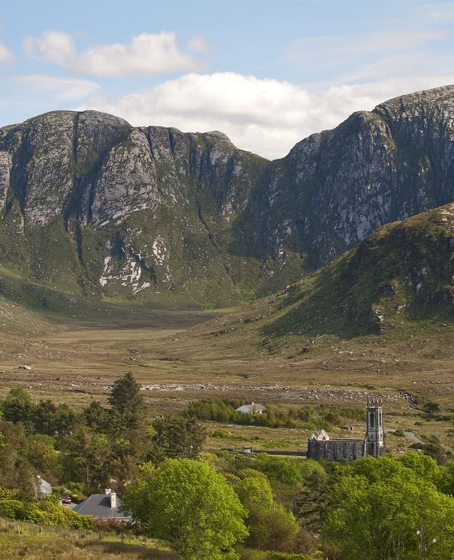 View of the haunting and mysterious Poison Glen, Dunlewey, County Donegal, Ireland