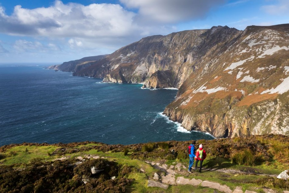 Slieve League cliffs, County Donegal, Ireland -   the tallest sea cliffs  in Europe and  a highlight of the Wild Atlantic Way. A short touring distance from Árasáin Bhalor - 4 Star Self Catering Apartments & House, Falcarragh, County Donegal, Ireland